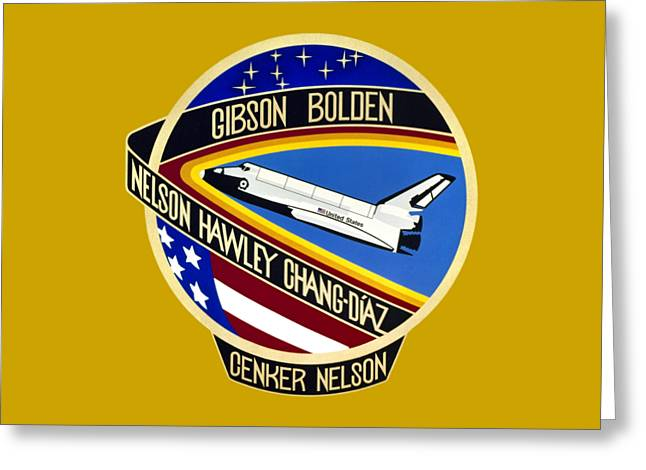 Nasa Sts-61-c Mission Patch Greeting Card by Art Gallery