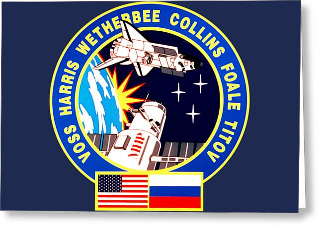 Nasa Sts-63 Mission Insignia Greeting Card by Art Gallery