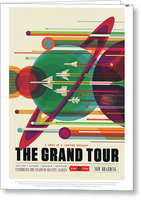 Nasa The Grand Tour Poster Art Visions Of The Future Greeting Card