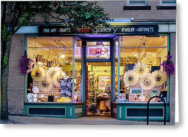 Greeting Card featuring the photograph Nash Gallery In Easthampton, Ma by Sven Kielhorn