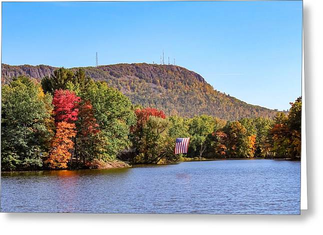 Nashawannuck Pond Fall Colors Greeting Card