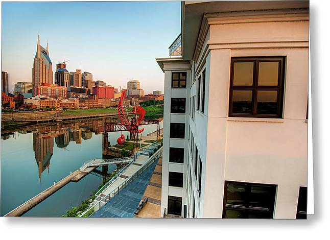 Nashville Along The River Greeting Card