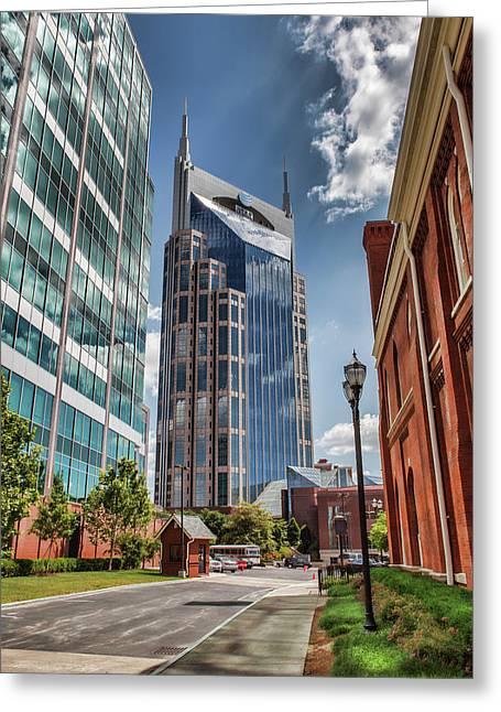 Nashville Att Tower Greeting Card