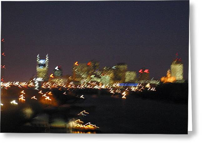 Nashville At Sixty Five Mph Greeting Card by Mark Currier