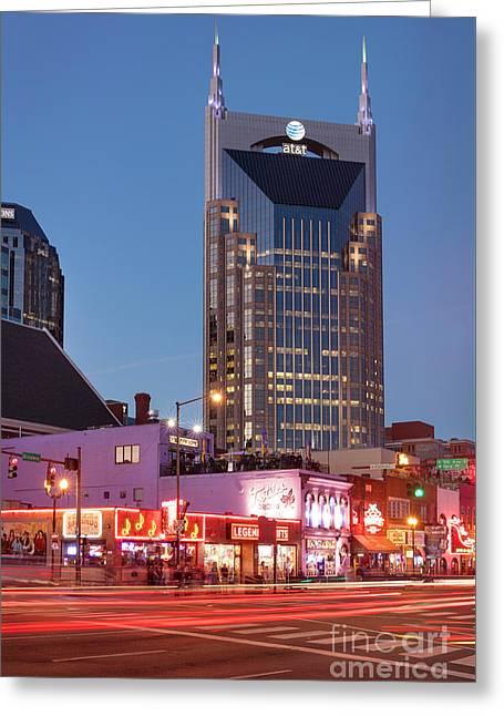 Greeting Card featuring the photograph Nashville - Batman Building by Brian Jannsen