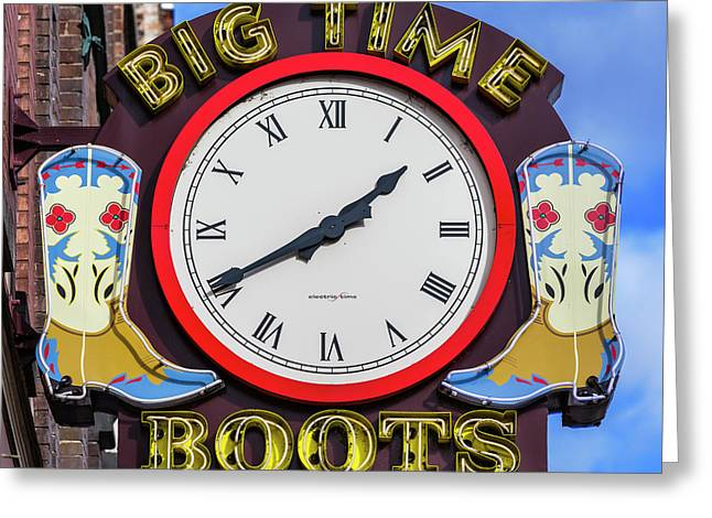 Nashville Big Time Boots Greeting Card