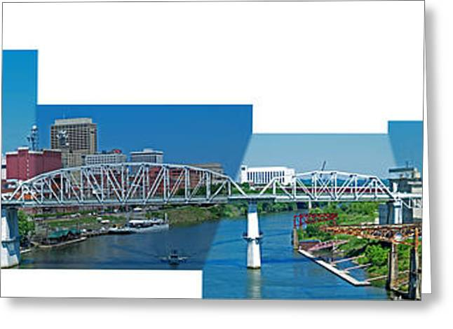 Nashville Tennessee Greeting Cards - Nashville Bridge - 1 Greeting Card by Randy Muir