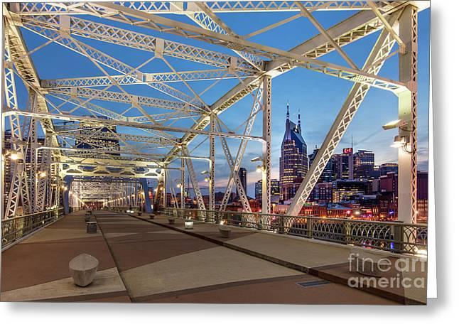Greeting Card featuring the photograph Nashville Bridge by Brian Jannsen