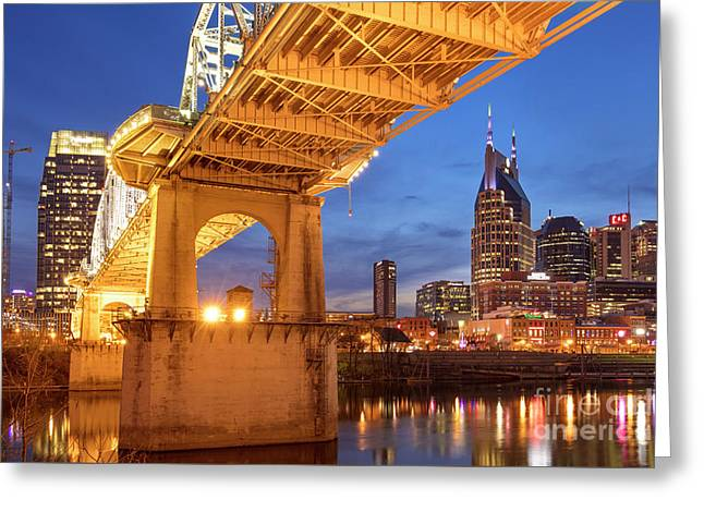 Greeting Card featuring the photograph Nashville Bridge IIi by Brian Jannsen