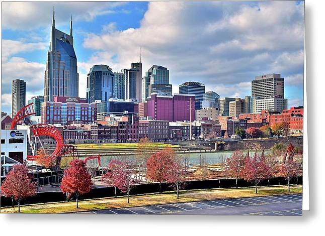 Nashville Clouds Greeting Card by Frozen in Time Fine Art Photography
