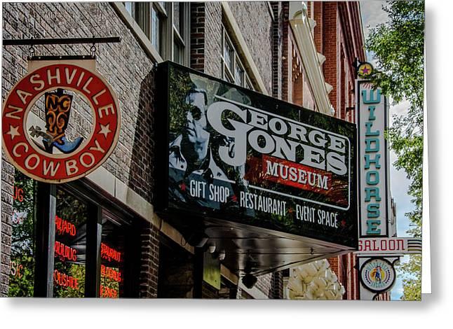 Nashville Cowboy - George Jones - Wildhorse Saloon Greeting Card