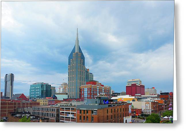 Nashville Downtown, Tn Greeting Card by Art Spectrum