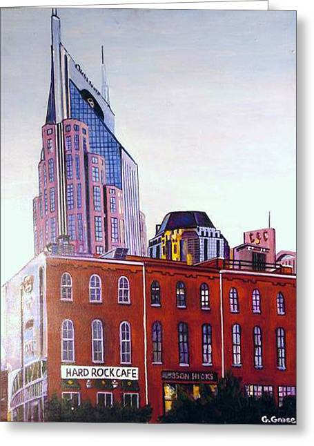 Nashville From River Greeting Card by George Grace