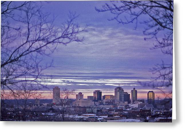 Nashville From The Distance - 2 Greeting Card by Randy Muir