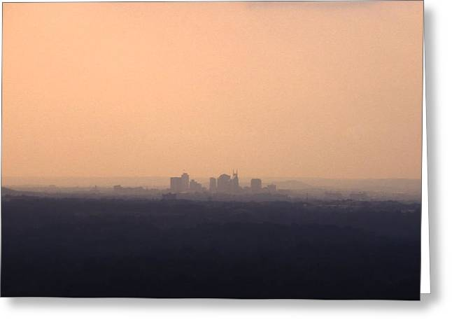 Nashville From The Distance Greeting Card by Randy Muir