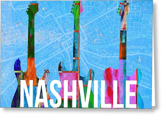 Nashville Guitars Greeting Card
