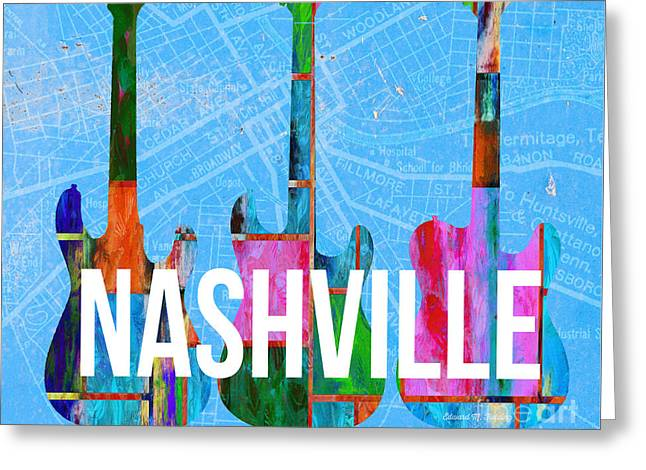 Nashville Guitars Music Scene Greeting Card
