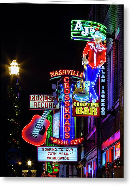 Nashville Neon Broadway Greeting Card