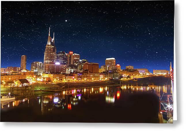 Nashville Nights Greeting Card