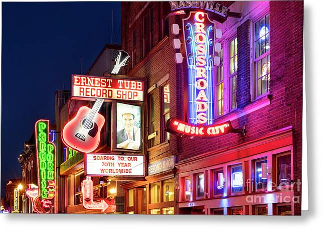 Greeting Card featuring the photograph Nashville Signs by Brian Jannsen