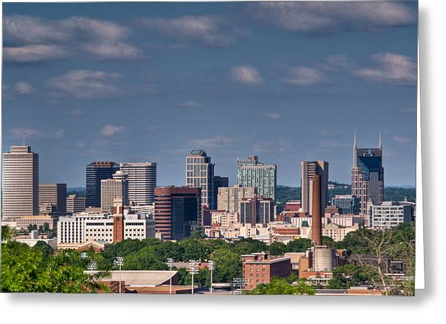 Nashville Tennessee Greeting Cards - Nashville Skyline 1 Greeting Card by Douglas Barnett