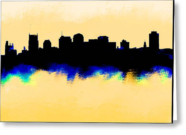Nashville  Skyline  Greeting Card by Enki Art