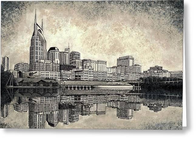 Nashville Skyline II Greeting Card