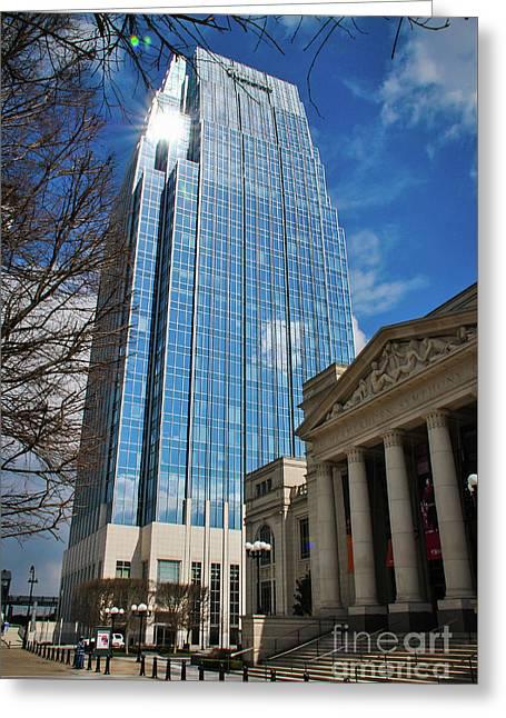 Nashville Skyscraper Greeting Card by Pamela Williams