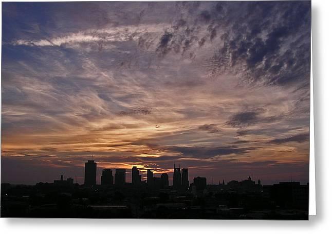 Nashville Sunrise - 2 Greeting Card by Randy Muir