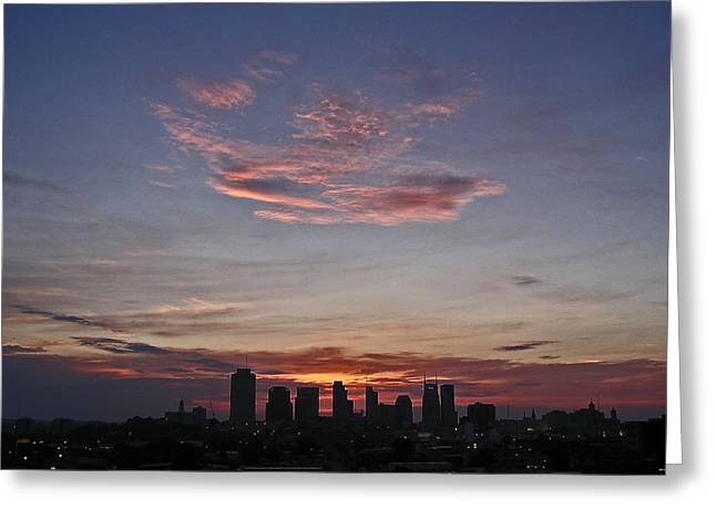 Nashville Sunrise Greeting Card by Randy Muir