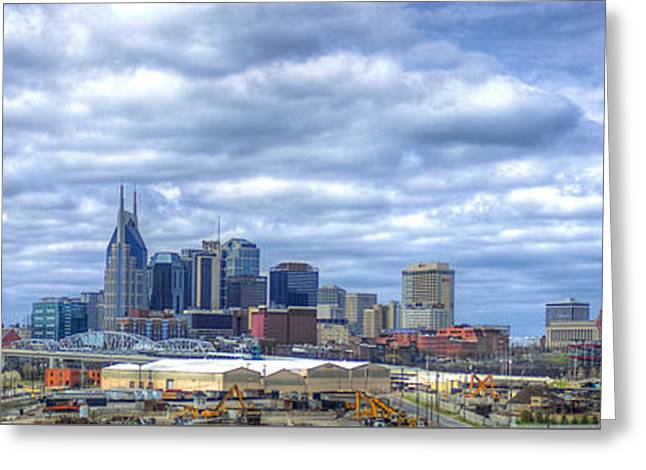 Nashville Tennessee Cityscape Art Greeting Card