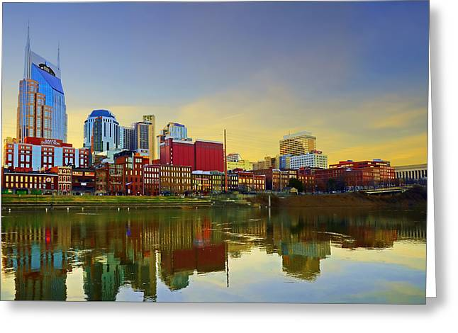 Nashville Tennessee Greeting Card by Steven  Michael