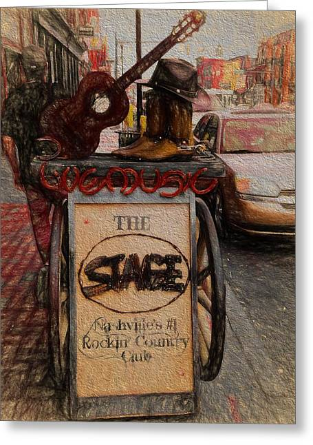 Nashville Tennessee The Stage Greeting Card by Dan Sproul