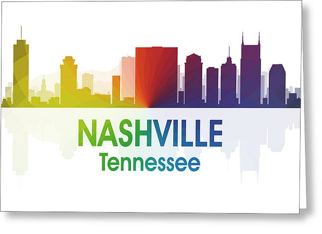 Nashville Tn 1 Squared Greeting Card