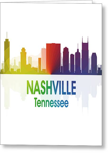 Nashville Tn 1 Vertical Greeting Card by Angelina Vick