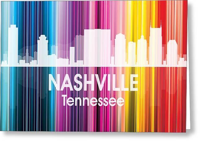Nashville Tn 2 Squared Greeting Card