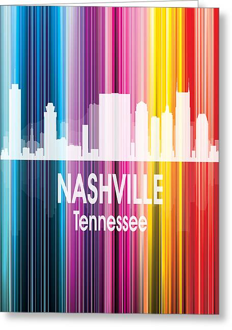 Nashville Tn 2 Vertical Greeting Card