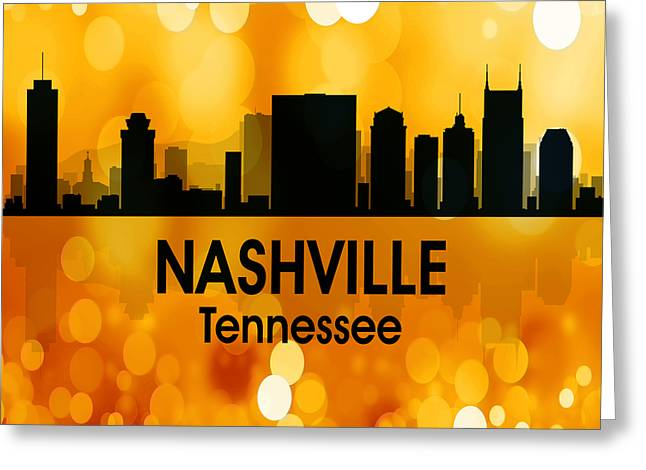 Nashville Tn 3 Squared Greeting Card