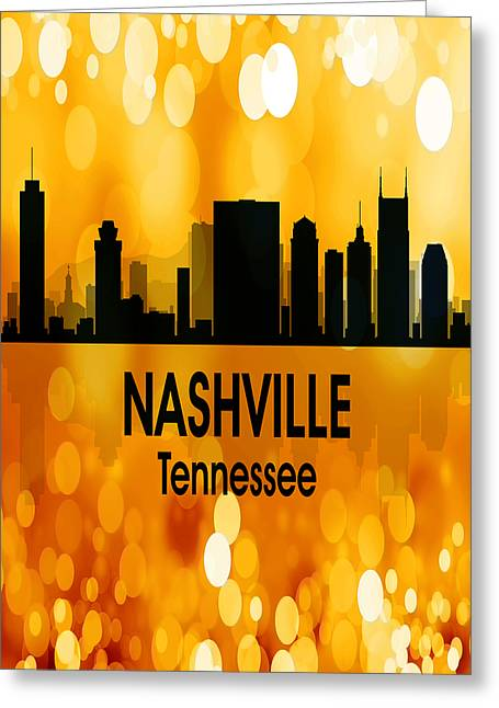 Nashville Tn 3 Vertical Greeting Card