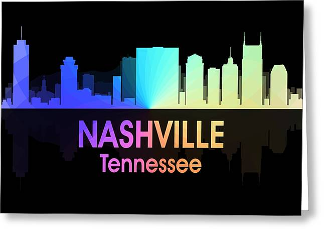 Nashville Tn 5 Squared Greeting Card