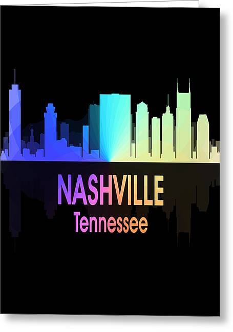 Nashville Tn 5 Vertical Greeting Card by Angelina Vick