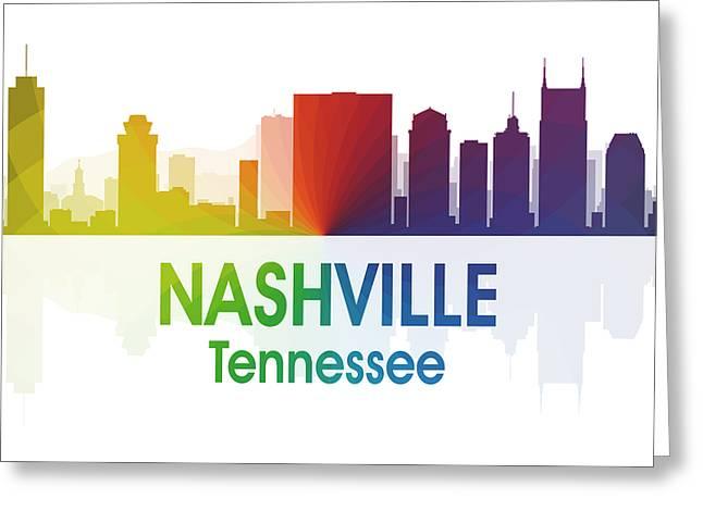 Nashville Tn Greeting Card by Angelina Vick