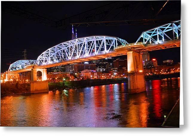 Nashville's Pedestrian Bridge Greeting Card