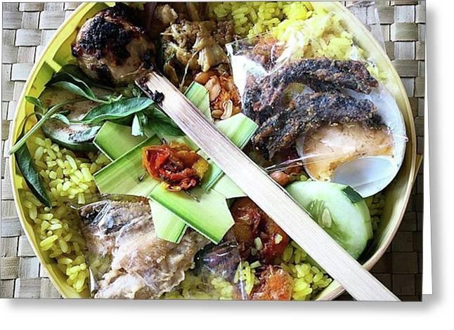 Nasi Yasa, A Special Rice Dish That Is Greeting Card by Arya Swadharma