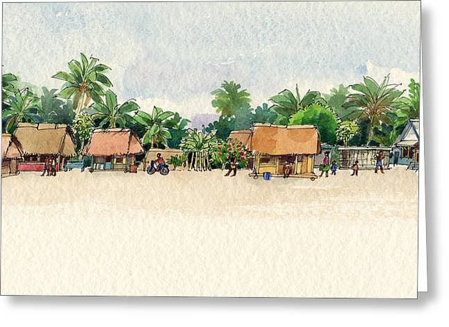 Nassau, Cook Islands, South Pacific Greeting Card