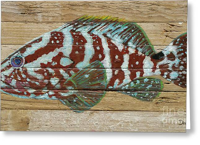 Nassau Grouper Greeting Card by Danielle Perry