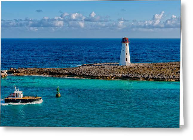Nassau Harbor Lighthouse Greeting Card by Christopher Holmes