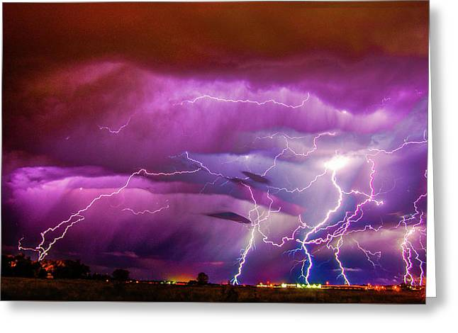 Nasty But Awesome Late Night Lightning 008 Greeting Card