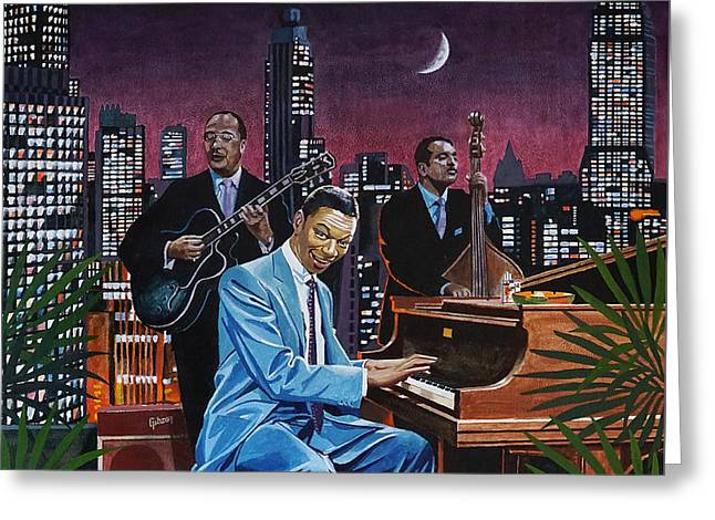 Nat King Cole - After Midnight Greeting Card by Jo King