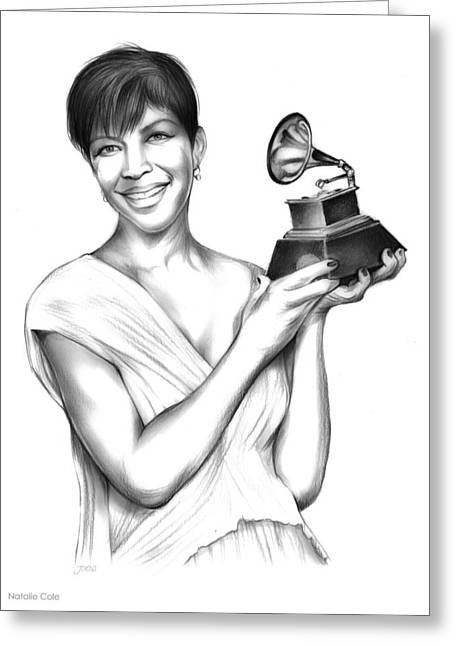 Natalie Cole Greeting Card by Greg Joens